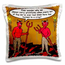 Devilish Questions  Pillow Case