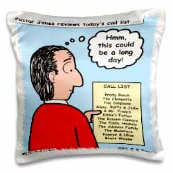 Difficult Pastor Call List Pillow Case