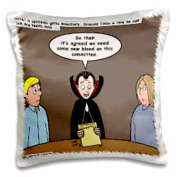 Dracula on the Church Outreach Committee Pillow Case
