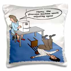 Eye Doctor - Glaucoma Test Pillow Case