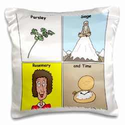 Parsley Sage Rosemary and Time Pillow Case