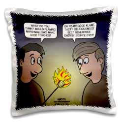 Knots Cartoon - Burnt Marshmallow smores - yum Pillow Case