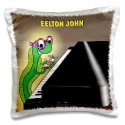 Eelton John the piano player Pillow Case