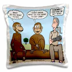 Dr. Jane Goodalls 50th anniversary at GDI - monkey business Pillow Case