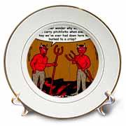 Devilish Questions  Plate