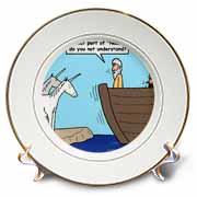 Sorry  No Unicorns  Plate