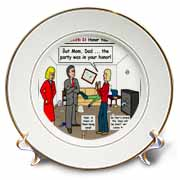Ten Commandments 5 Honor Your Parents Plate