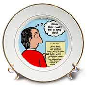 Difficult Pastor Call List Plate