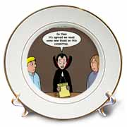 Dracula on the Church Outreach Committee Plate