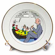 Pastor Problems with Clown Ministry Plate