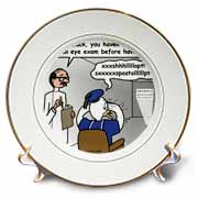 Famous Duck at the Eye Doctor Plate