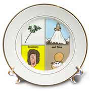 Parsley Sage Rosemary and Time Plate