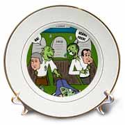 Halloween - Zombie Practical Jokes - Clinton and Nixon Masks Plate
