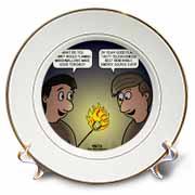 Knots Cartoon - Burnt Marshmallow smores - yum Plate