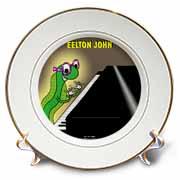 Eelton John the piano player Plate