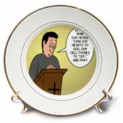 Prayer and Cell Phones Plate