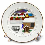 Simple Nativity Wins Neighborhood Christmas Display Contest Plate