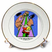 Ira Monroe - Santa Finds Some Buildings are Stirring More than a Mouse Plate