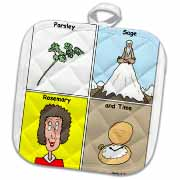 Parsley Sage Rosemary and Time Potholder