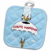 Chute Happens Potholder
