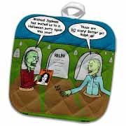 Halloween - Zombies are Invited to Michael Jacksons Party Potholder