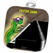 Eelton John the piano player Potholder