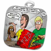 Training the Dog to Fetch Pizza Potholder