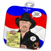 The Trace Adkins Diets Potholder