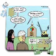 Modernism - Building a Church for Jesus Puzzle