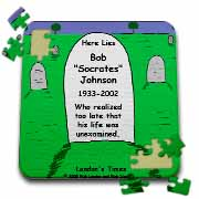 Unexamined Life Tombstone Puzzle