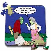 Halloween - Zombie on Atkins Diet Puzzle