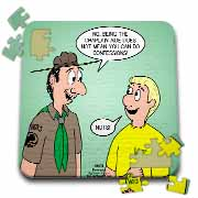 KNOTS cartoon - Scout confession and the chaplain aide Puzzle