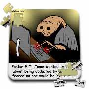 Religious Light Cartoon - Pastor ET Jones Alien Abduction Puzzle