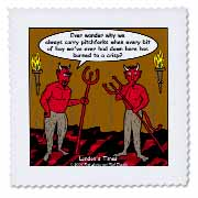 Devilish Questions  Quilt Square