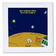 High Tornado Areas on Other Planets Trailer Parks Quilt Square