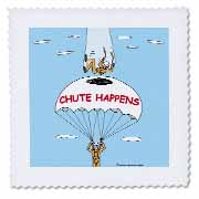 Chute Happens Quilt Square