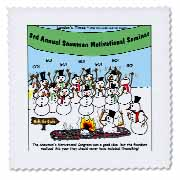 Snowman Motivational Seminar Quilt Square