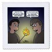 Knots Cartoon - Burnt Marshmallow smores - yum Quilt Square