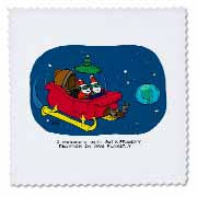 Nelson Dewey - Alien Craft Resembles Santas Sleigh Quilt Square