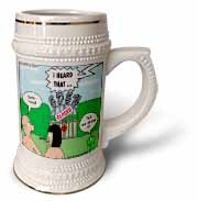 Adam and Eve - Lock-out at the Garden of Eden Stein Mug