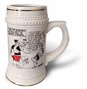 Sean Boley, Santa Goes Commercial  Stein Mug