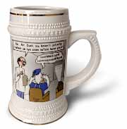 Famous Duck at the Eye Doctor Stein Mug