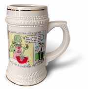 Halloween - Zombie Punch and the Religious Visitors Stein Mug