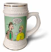 KNOTS cartoon - Scout confession and the chaplain aide Stein Mug