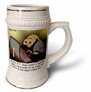 Religious Light Cartoon - Pastor ET Jones Alien Abduction Stein Mug