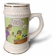 Jr. Knots Space Race with jet engine, rubber band and child prodigy scuot Stein Mug
