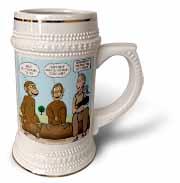 Dr. Jane Goodalls 50th anniversary at GDI - monkey business Stein Mug