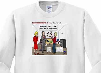 Ten Commandments 5 Honor Your Parents Sweatshirt