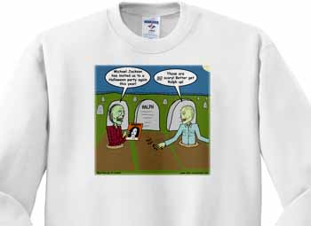 Halloween - Zombies are Invited to Michael Jacksons Party Sweatshirt