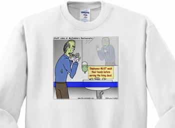Halloween - Zombie Restaurant Warnings Sweatshirt